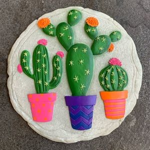 Cactus Plate Stepping Stone Wall Decor